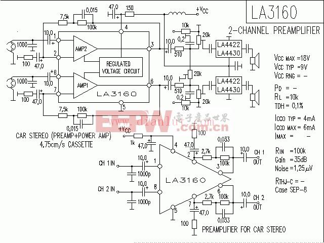 LA3161构成的功放电路