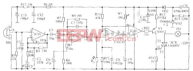 >水塔水位控制器原理及电路图