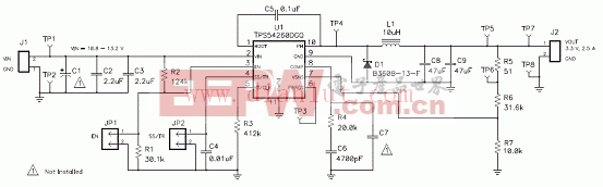 TPS54260 EVM-597电路图