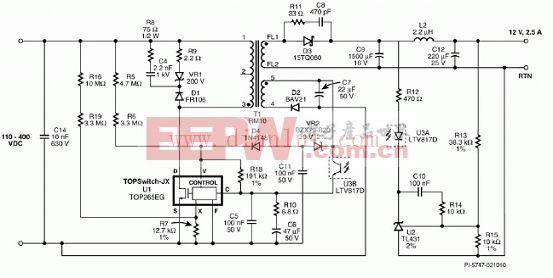 12V/30W设计案例电路图