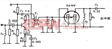 声表面滤波器(SAWF)应用原理电路