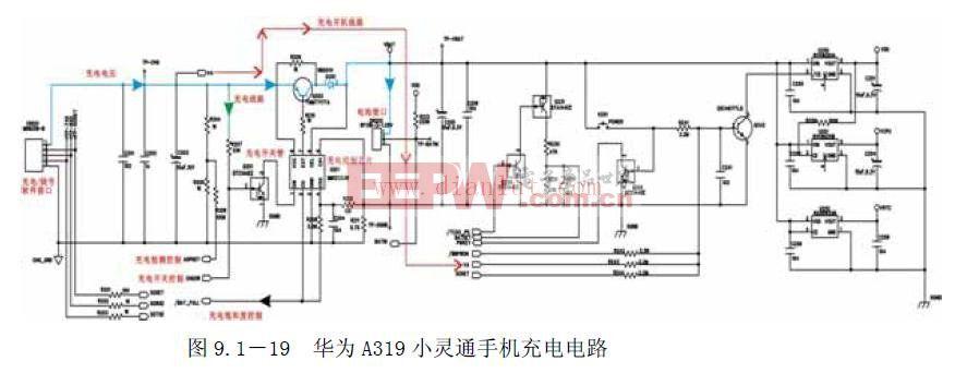 华为A319小灵通手机充电开机电路原理