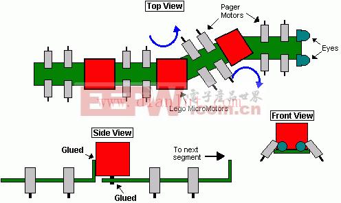 74ac240设计的 千足虫玩具 电路 电路图 电子高清图片