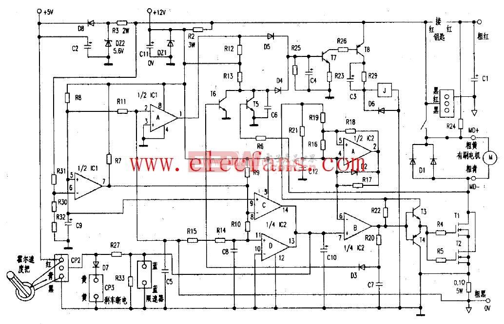 电动车控制器接线电路图图片