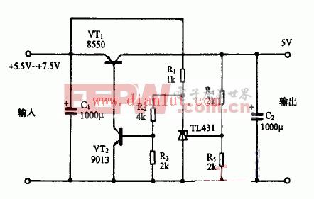 TL431设计的低压差稳压电源电路