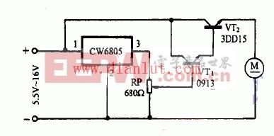CW7805设计的小电机稳速器电路