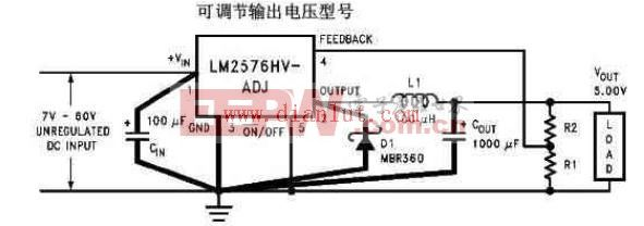 LM2576-ADJ应用电路