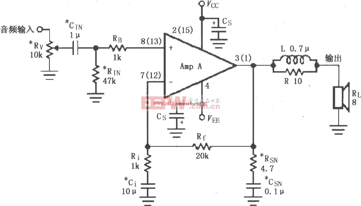 LM4765音频功率放大电路