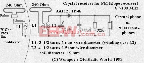 FM调频矿石收音机电路