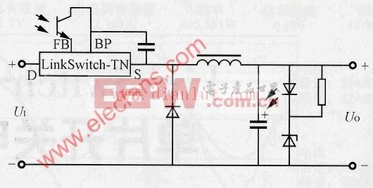 正端降压式光耦反馈电路图片