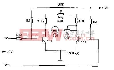 简易直流电压表电路原理图图片