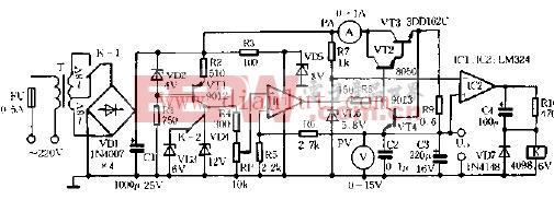 0 12V可调直流稳压电源电路图片
