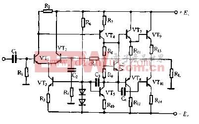 典型的OTL功率放大电路图片
