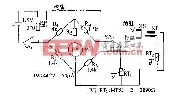 MF53--型热敏电阻器测湿电路