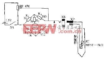 MF53--型热敏电阻器点温计电路