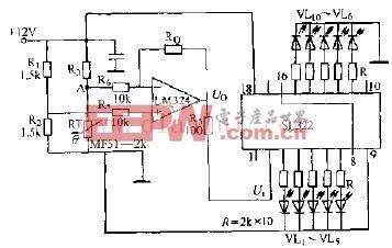 发光二极管温度显示器电路