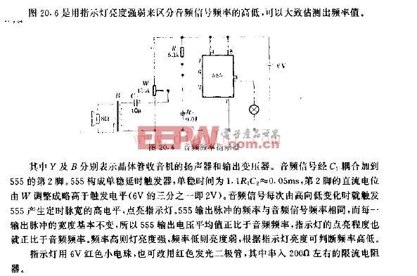 音频频率指示器电路