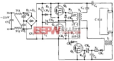 MOSEFT管电子镇流器电路