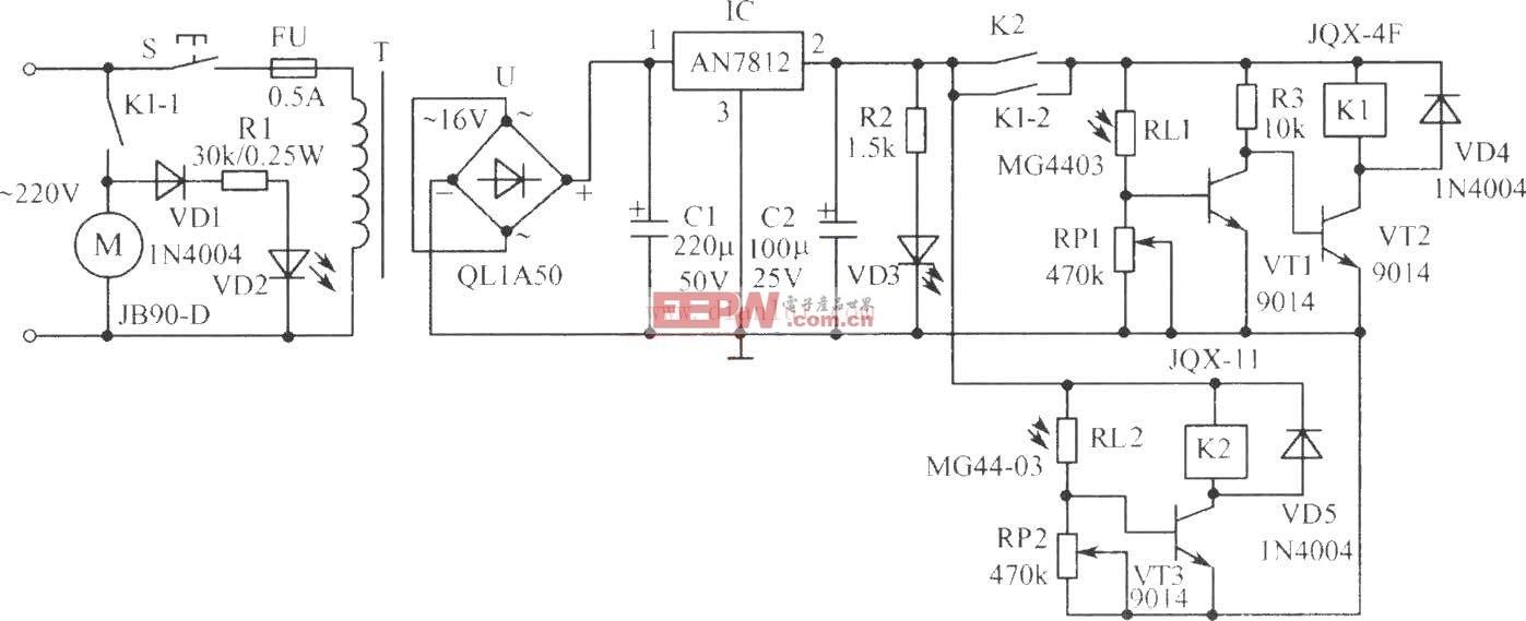 电力搅拌机电路图