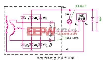 9管交流发电机电路