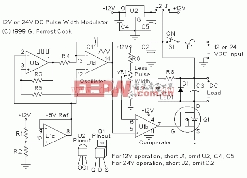 PWM电机/灯光控制器电路