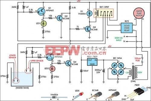 自动灌装机水箱电路图