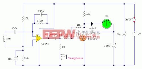 电磁场探头输出与仪表电路