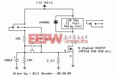 MOSFET继电器切换电路
