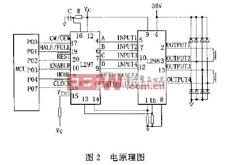 L297+L298驱动接线电路