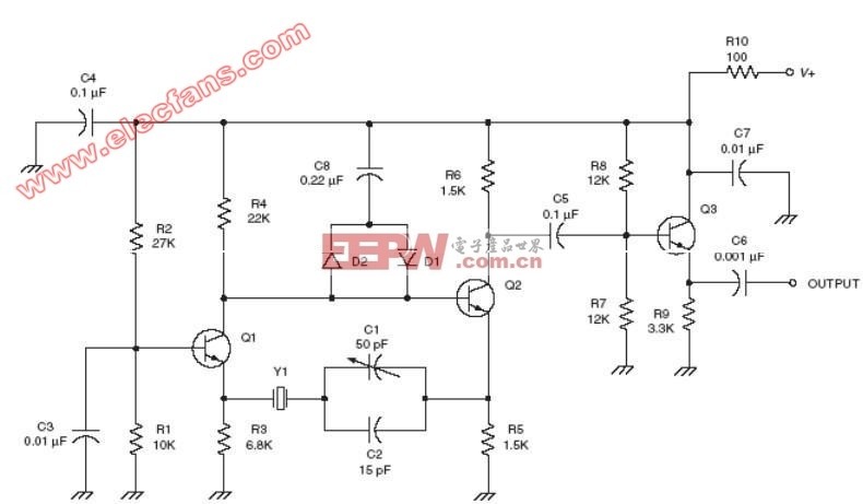 改进型巴特勒振荡器射频电路图(Improved Butler