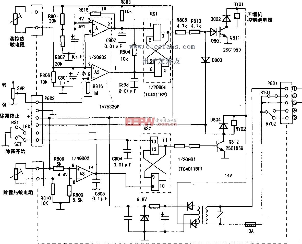 东芝冰箱温控器电路图