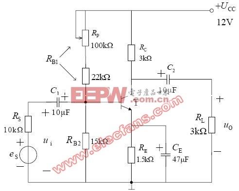 单管放大晶体管直流稳压电路 -单管图片