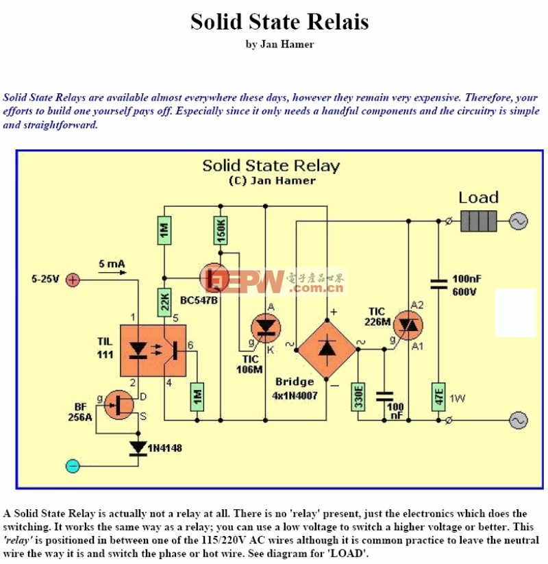 Solid State Relais circuits