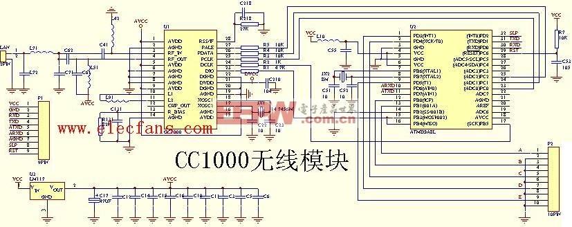 cc1000无线模块电路图