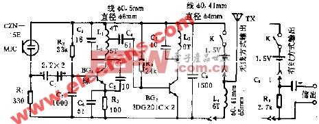 波音SWD型雙用話筒電路圖