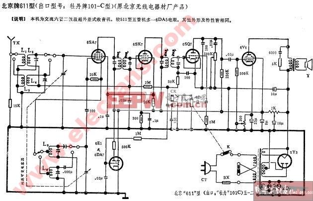 牡丹牌101-C型收音机电路图