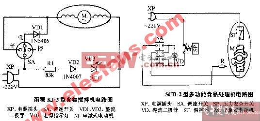 SCD-2型多功能食品处理机电路图