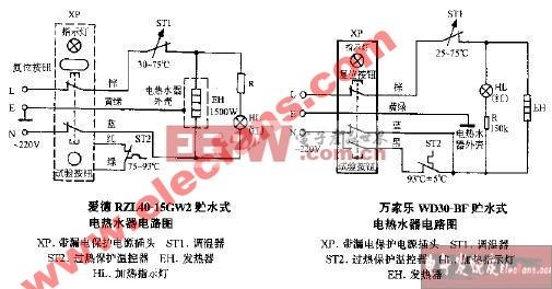 万家乐WD30-BF贮水式电热水器电路图