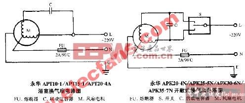 永华APT10-1 APT15-1 APT20-4A浴室换气