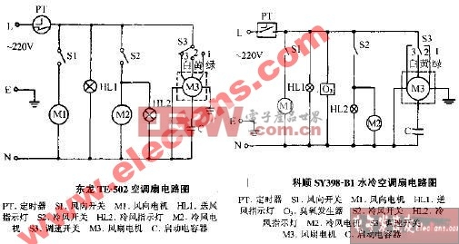 科顺SY398-B1水冷空调扇电路图