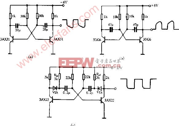 多谐振荡器实用电路图