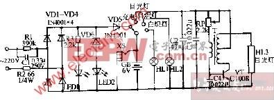 SL-02型三用应急灯电路图