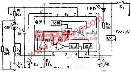 SF1212自动曝光集成电路的应用电路图  www.eepw.com.cn