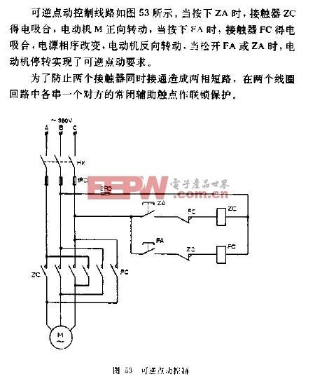 可逆点动电动机控制电路图图片