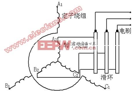 绕线式导步电动机定转子接线示意图原理图