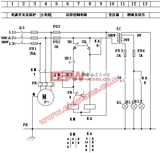 某机床电气原理图