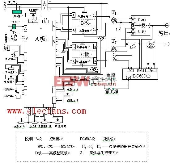 交流电焊机电原理图 220V 380V焊机图片