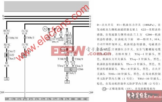 Motronic机油压力开关、里程表传感器、机油状态传