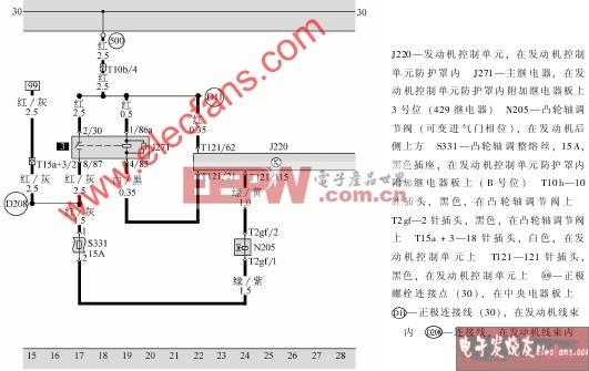 1.8T发动机电路图图片