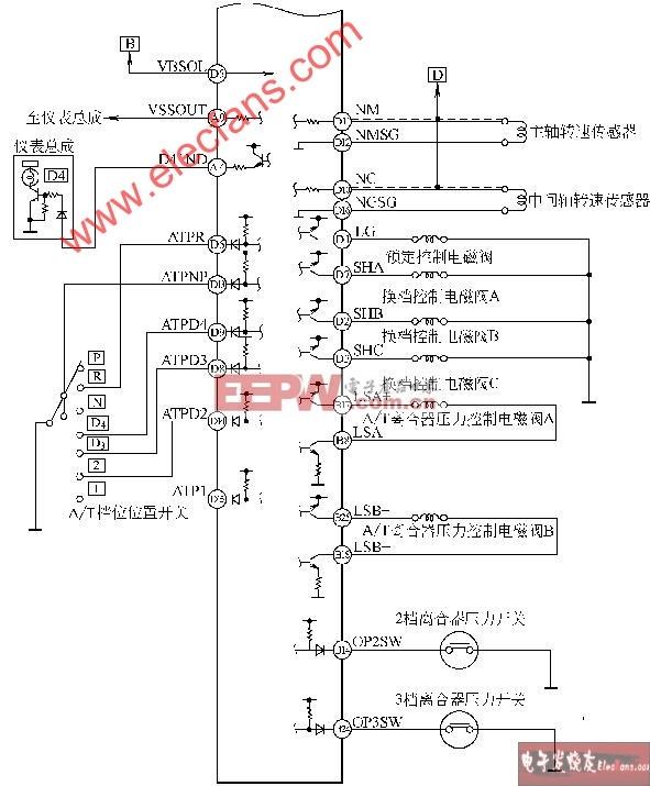 v6发动机电控系统电路图-广州本田雅阁2l/2.3l轿车
